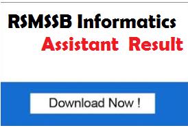 RSMSSB Information Assistant Result 2018 RAJ IA Exam Cut off
