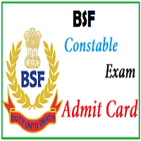 BSF Constable Group C Admit Card