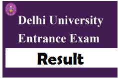 Delhi University Entrance Exam Result