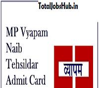 MP Naib Tehsildar Admit Card