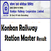 konkan railway station master result