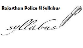 rajasthan police si syllabus