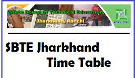 sbte jharkhand exam routine