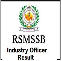 RSMSSB Industry Officer Result