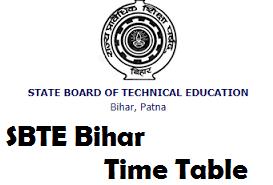 SBTE Bihar Time Table
