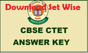 cbse ctet answer key