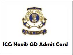 indian coast guard navik gd admit card