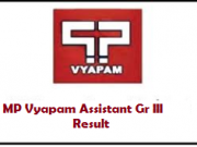 mp vyapam assistant grade 3 result