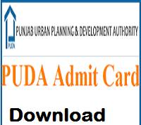 puda admit card