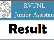 rvunl junior assistant result