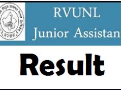 rvunl junior assistant result