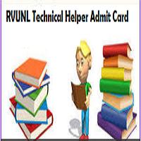 rvunl technical helper admit card