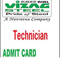 vizag steel plant technician admit card