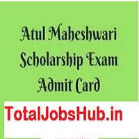 Atul Maheshwari Scholarship Admit Card