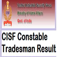 CISF Constable Tradesman Result
