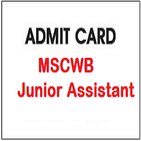 MSCWB Junior Assistant Admit Card
