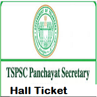 TSPSC Panchayat Secretary Hall Ticket