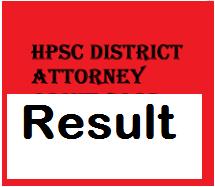 hpsc district attorney result