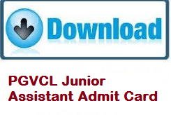 pgvcl junior assistant admit card
