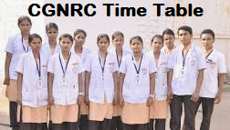 CGNRC ANM GNM Time Table