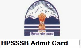HPSSSB Staff Nurse Admit Card