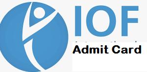 IOF JWM Admit Card