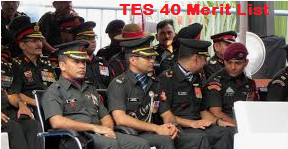 Indian Army TES 40 Merit List