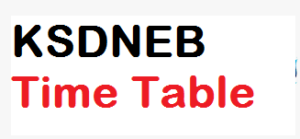 KSDNEB GNM Time Table