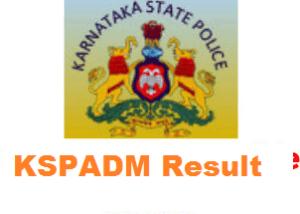 KSPADM Result 2020 KSP APC, Warder Cut off Marks at ksponline.co.in