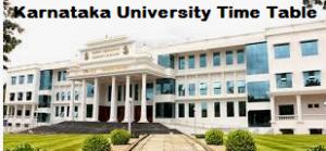 Karnataka University Dharwad Time Table