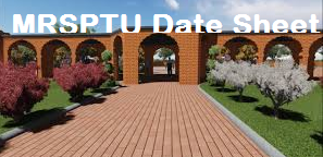 MRSPTU Date Sheet