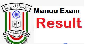 Maulana Azad National Urdu University Result