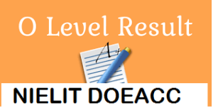 NIELIT O Level result