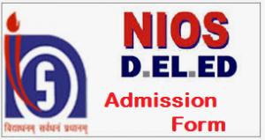 NIOS DElEd Admission Form