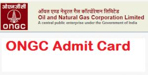 ONGC Assistant Technician Admit Card