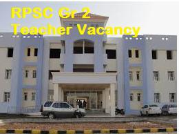 RPSCSenior Teacher Grade II Vacancy