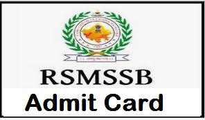 RSMSSB Junior Scientific Assistant Admit Card