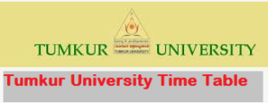 Tumkur University Time Table