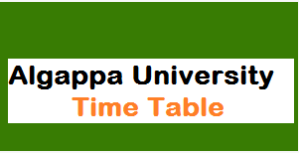 alagappa university exam timetable
