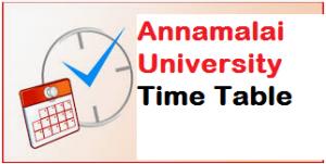 annamalai university time table