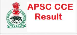 apsc cce prelims result