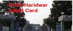 bhel haridwar admit card