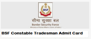 bsf constable tradesman admit card