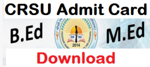 crsu jind admit card