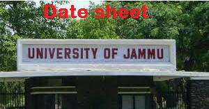 jammu university time table