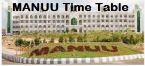 manuu exam time table