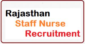rajasthan staff nurse recruitment