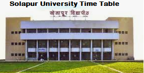 solapur university time table