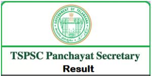 tspsc panchayat secretary result