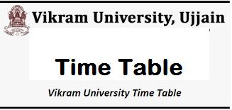 vikram university time table